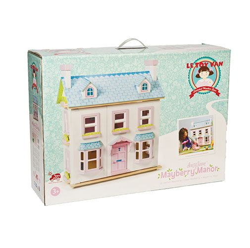 Le Toy Van Wooden Mayberry Manor Dollhouse H118 Timber