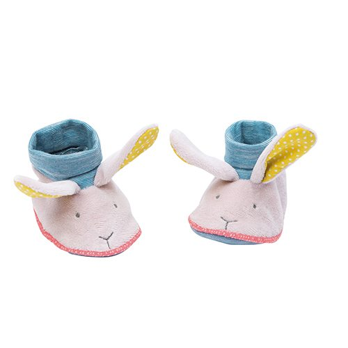 Moulin Roty Les Zazous Elephant Baby Slippers